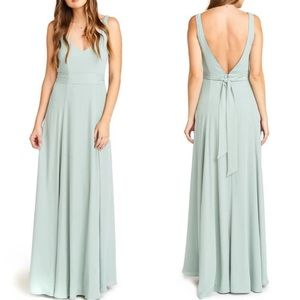 Show me your Mumu Bridesmaid Dress in silver sage